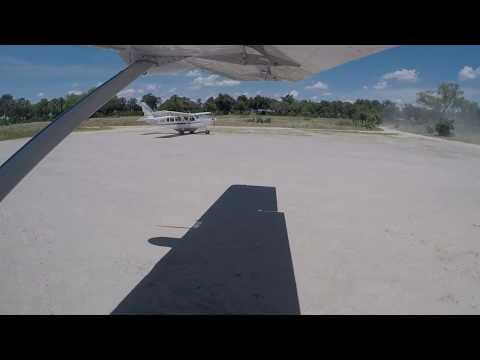 Flight from Khwai to Okavango Delta Xudum Airstrip, Botswana