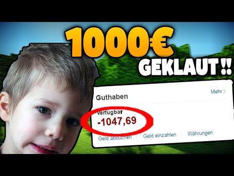 KIND KLAUT 1.000€ AUF PAYPAL.. VATER IST SAUER ??