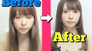 【簡単】ストレートアイロンでワンカールヘア【前髪】How to set up my hair with a straight hair iron