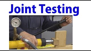 Woodworking Joint Tests