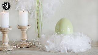 DIY - Frühlingsdeko | Kranz aus Federn ganz einfach selber machen | Schriftzug aus Draht | How to
