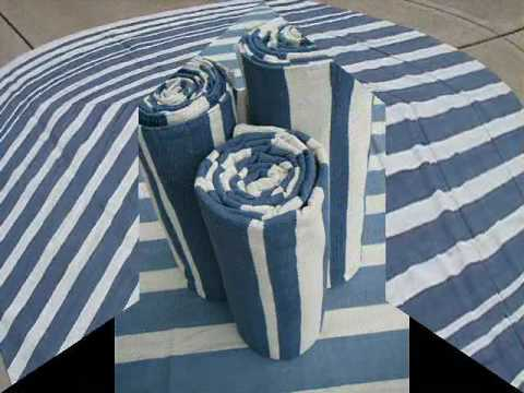 Blue And White Striped Rug 8x10 Youtube