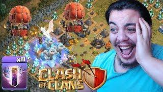 DEV EJDERHAYA BUZ GOLEMİ ATTIM (Güncelleme) Clash of Clans