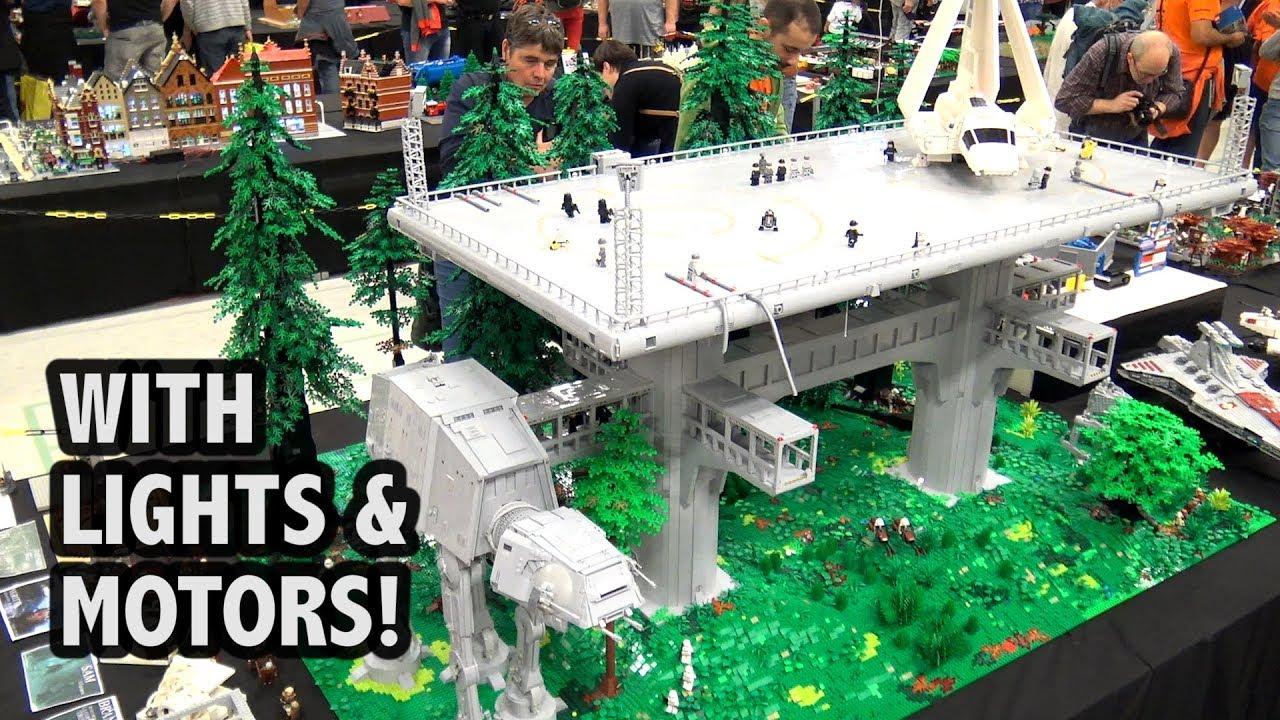 Huge Lego Endor Base From Star Wars Return Of The Jedi Youtube