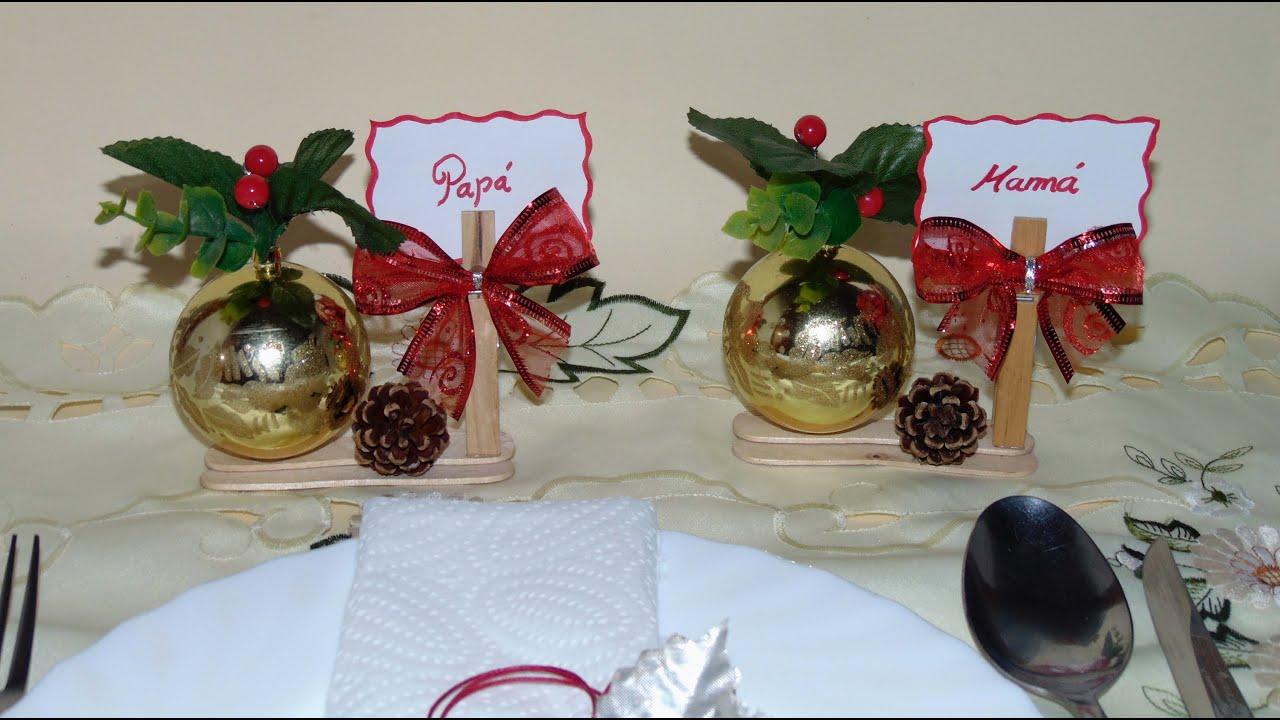 Hacer carteles de mesa para navidad youtube - Mesas para navidad ...