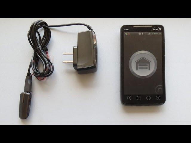 open garage door with phoneControl Your Garage Door Opener with Your Smartphone