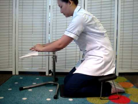 Community Nurse Leg Ulcer Ergo Kit Kneeling Stool Limb