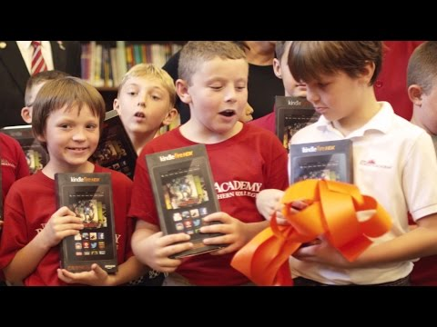 Amazon donates devices to the Roberts Academy