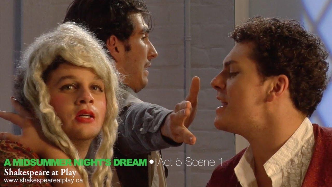 A Midsummer Night S Dream Act 5 Scene 1 Youtube