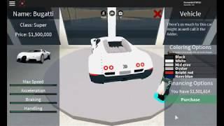 Comprando A bugatti no vehicle simulator roblox