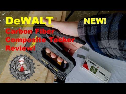 DEWALT DWHT80276 Carbon Fiber Composite 2 in 1 Tacker Staple Gun New