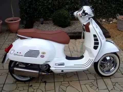 vespa gts 300 super akrapovic youtube. Black Bedroom Furniture Sets. Home Design Ideas