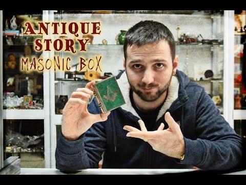 Antique Masonic Trinket Box - Book ?