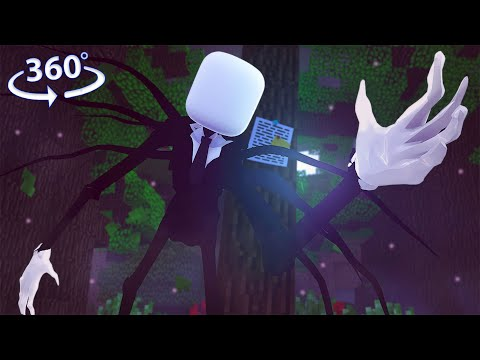 Slenderman ESCAPE At 3AM In 360° VR! - A Minecraft VR Video