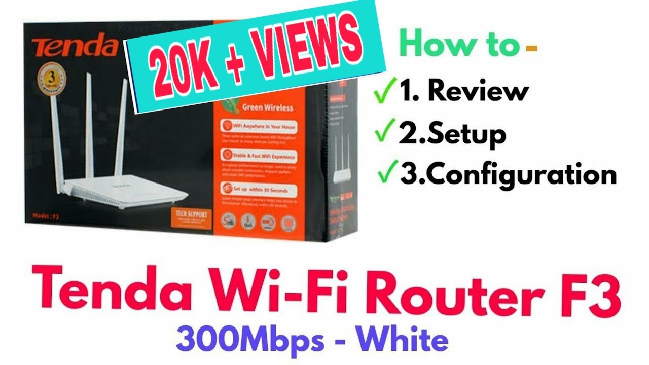 Tenda F3 Router Review Setup Configuration In Bangla Youtube N300