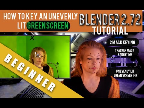 How To Key An Uneven Green Screen In Blender 2.72b