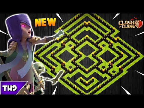 NEW TOWN HALL 9 FARMING/TROPHY BASE 2018! TH9 HYBRID DARK BASE WITH REPLAYS!! - CLASH OF CLANS(COC)