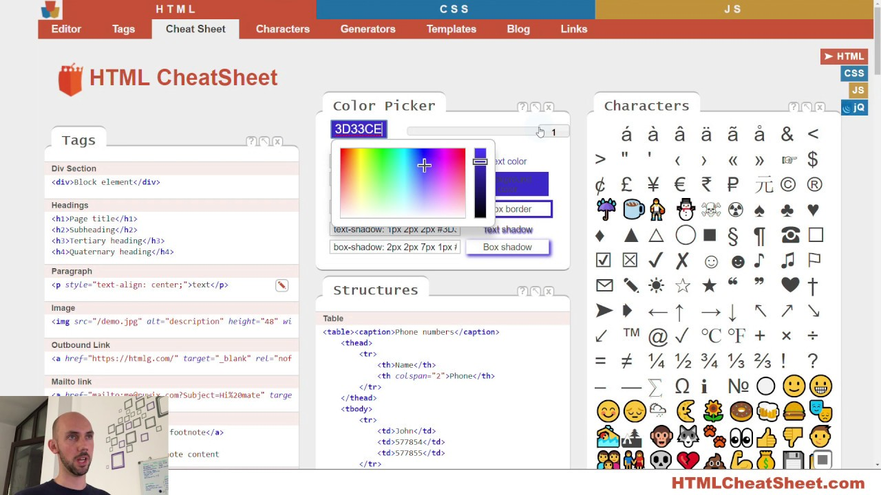 Html Cheat Sheet The Best Interactive Cheat Sheet