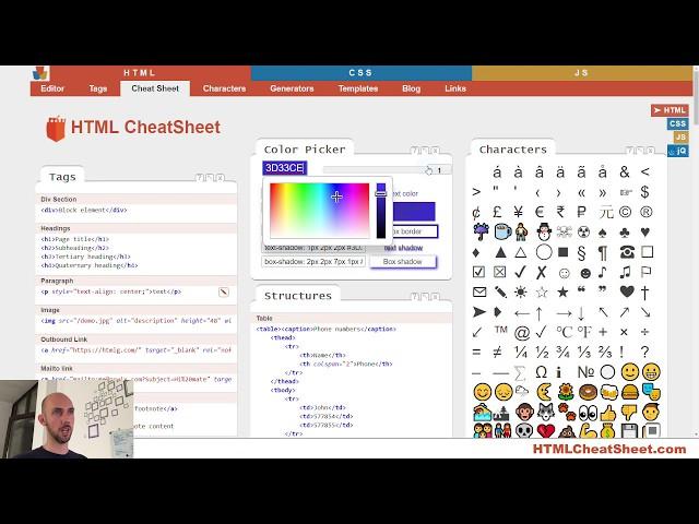 HTML Cheat Sheet 📃 - The best interactive cheat sheet