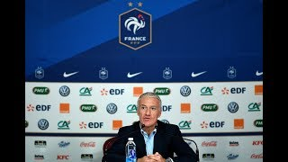 Lundi 12, la conférence de Didier Deschamps en replay, Équipe de France I FFF 2018