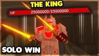 DEFEATING THE *NEW* BOSS (THE KING) ON KINGS CASTLE *SOLO* | Roblox: Dungeon Quest