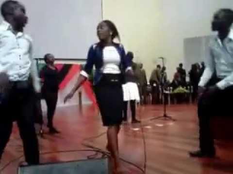 christine and the band dancing(team JESUS) zambia