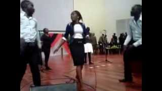 christine and the band dancing(team JESUS) zambia