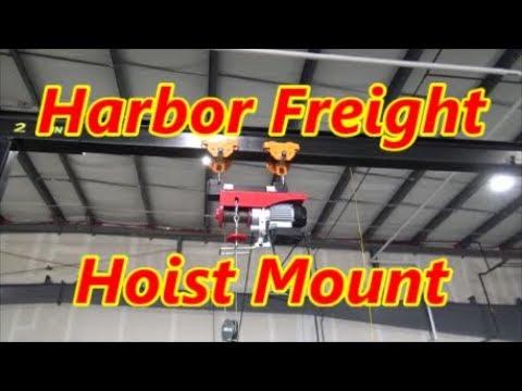 Building a Bracket to mount a Harbor Freight Hoist