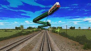 Kereta Api Kabur Ke Langit - Kompilasi Trainz Simulator