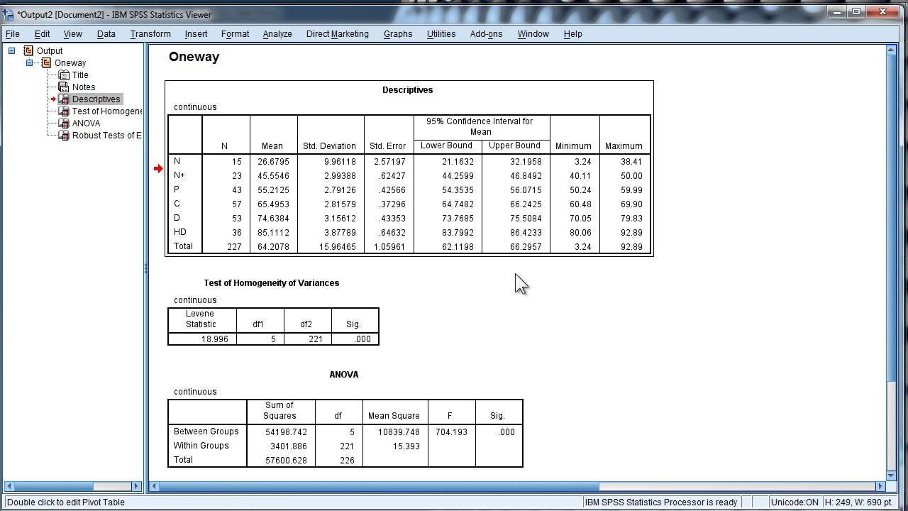 Change Output Font Size in SPSS - Permanently - YouTube