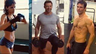 X-Men Training | Hugh Jackman, Halle Berry, James Marsden Workout
