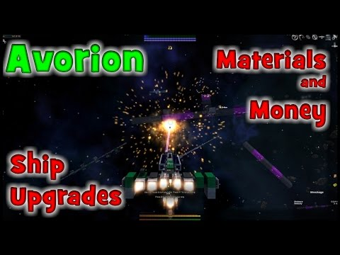 Avorion Gameplay ep2 Buying Upgrading, Building a Ship, Controls, Mining, Trading, Lets Play Avorion