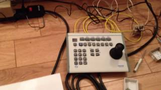 How to use a pelco KBD300A PTZ controller in DIRECT MODE w/ KBDKIT