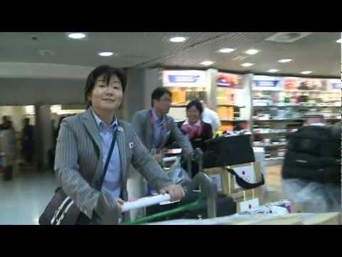 Japanese team arrives for London 2012 Games