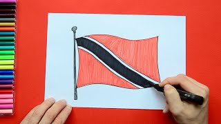 How to draw and color the National Flag of Trinidad & Tobago