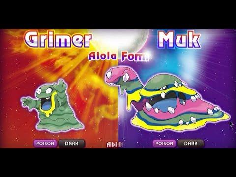 Muk's alola form! Pokemon sun and moon reaction - YouTube