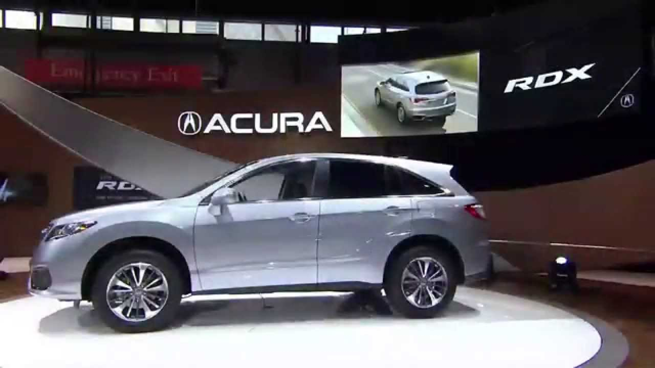 The new 2016 acura rdx makes world debut at the 2015 chicago auto show youtube