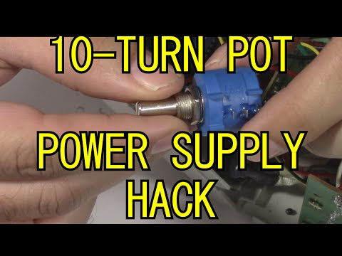 10-turn pots added to variable power supply for more precision