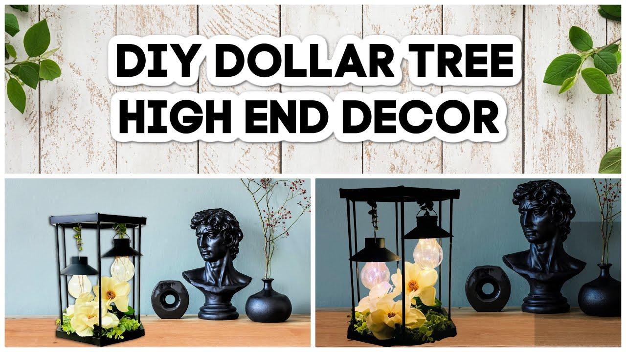 DIY High End Dollar Tree Decor | HighEnd Modern Farmhouse Lantern | Easy Dollar Tree DIYs