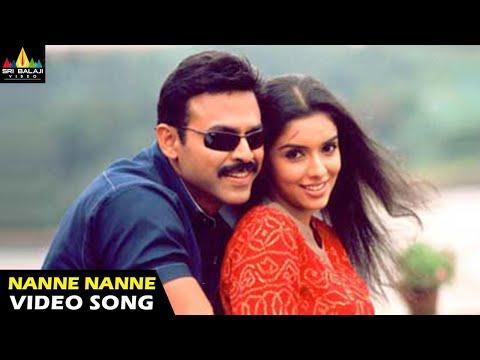 Gharshana Songs | Nanne Nanne Video Song | Venkatesh, Asin | Sri Balaji Video