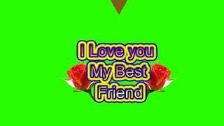 Happy Friendship Day Green Screen Effects - Happy Friendship Day speciel 3D Animated Video No 71