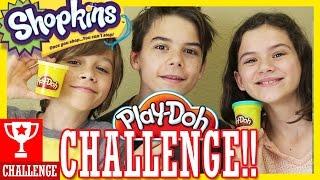 PLAY DOH CHALLENGE!! Shopkins S 1, 2, & 3!  |  KITTIESMAMA