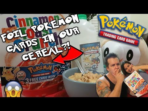 FOIL POKEMON CARDS IN OUR CEREAL?!