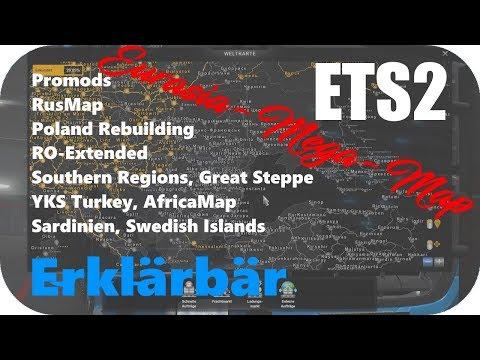 ETS2 1.34 MEGA MAP EURASIA (Promods Basis) und aktuelle Modliste