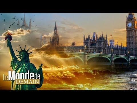 Le crépuscule sur la Grande-Bretagne et les États-Unis
