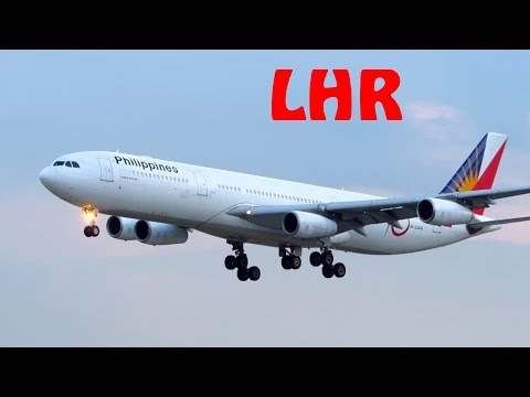 ULTIMATE Planespotting at London Heathrow Airport - Landing and Takeoff [Full HD]
