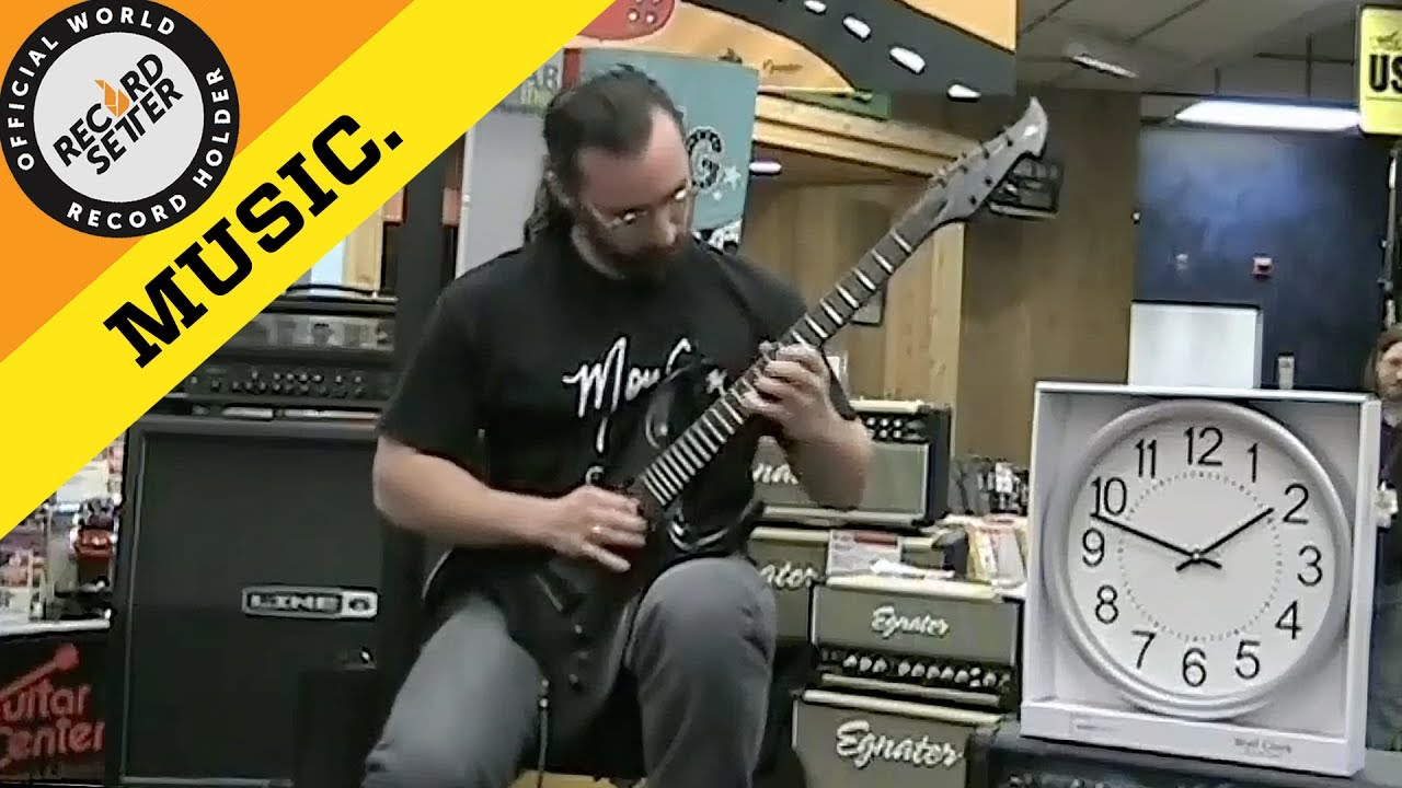 c3b58d94b0c World Record  World s Fastest Guitar Player  (600 BPM ...