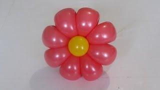ромашка 8 лепестков из шаров / 8-petals flower balloon