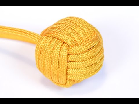 "Make a 1"" Monkey Fist With Survival Paracord - BoredParacord.com"
