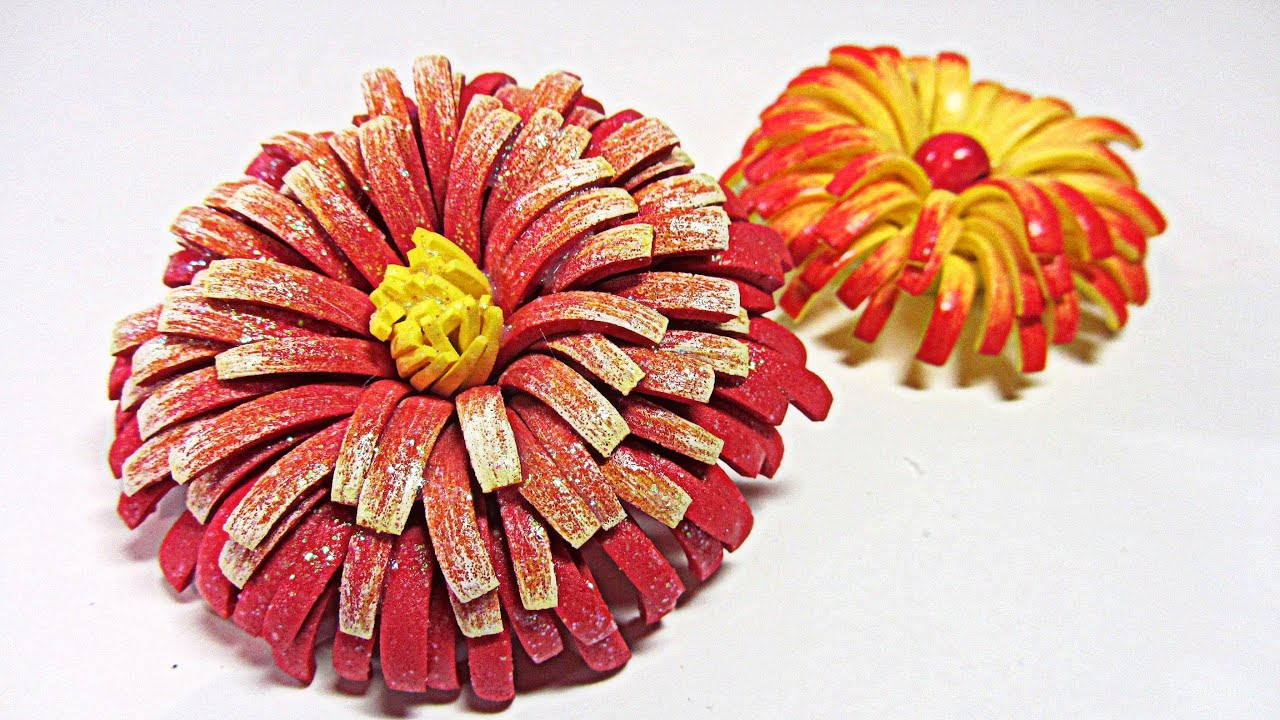 Diy flores de goma eva craft foam flowers youtube - Flore de goma eva ...